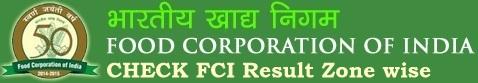 FCI Result Cutoff Marks Merit List Score Card