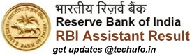 RBI Assistant Result Cut off Marks