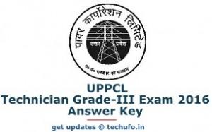 UPPCL Technician Grade 2 Answer Key 2016
