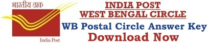 WB Postal Circle Answer Key Download