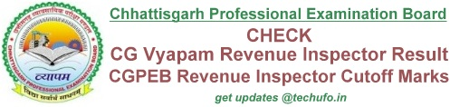 CG Vyapam Revenue Inspector Result Cut off Marks
