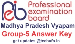MP Vyapam Lab Technician Answer Key Download MPPEB Group 5 Exam Model Answers PDFs