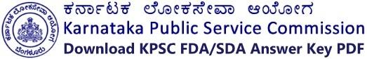 kpsc fda sda exam answer key download
