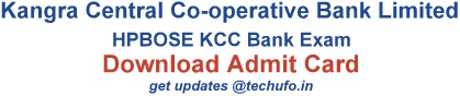 KCCB Admit Card Download