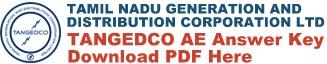 TNEB TANGEDCO AE Answer Key Download PDF