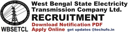 WBSETCL Recruitment Notification & Application Form