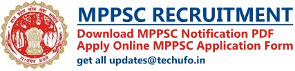 MPPSC Recruitment Notification & Application Form