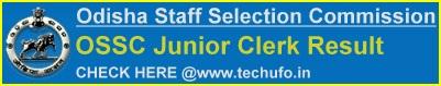 OSSC Junior Clerk Result Cut off Marks Merit List