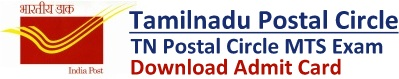 TN Postal Circle MTS Admit Card Download