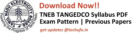 TNEB TANGEDCO Syllabus & Exam Pattern