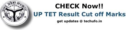 UP TET Result Cut off Marks