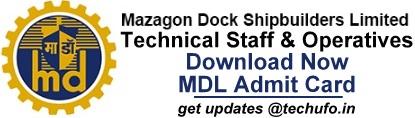MDL Admit Card