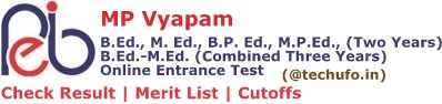 MP B.Ed. M.Ed. Result