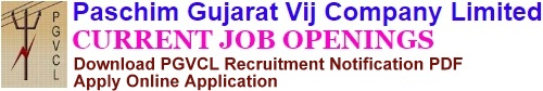 PGVCL Recruitment Notification & Online Application Form