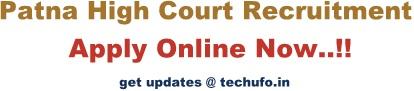 Patna High Court Recruitment 2020 Notification