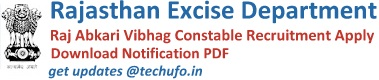 Rajasthan Excise Department Recruitment