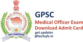 GPSC MO Admit Card