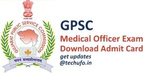 GPSC MO Admit Card