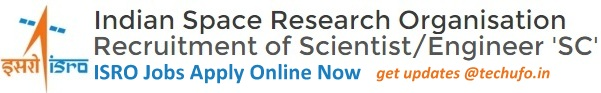 ISRO Scientist Engineer Recruitment Notification