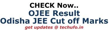 Odisha OJEE Result Cutoff Marks Merit List