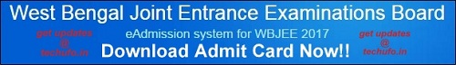 WBJEE Admit Card Download