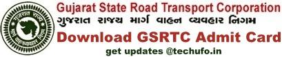 GSRTC Clerk Admit Card Call Letter download