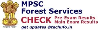 MPSC Forest Service Result Cutoff Marks Merit List