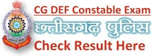 CG Police Constable Result Cut off Marks Merit List