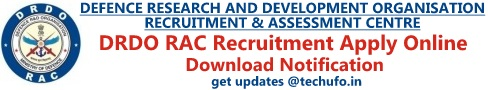 DRDO RAC Recruitment Notification & Application Form