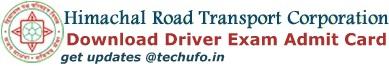HRTC Admit Card Download
