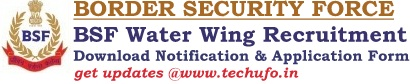 BSF Water Wing Recruitment Notification Application Form