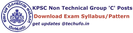 KPSC Group C Non-Technical Syllabus Exam Pattern