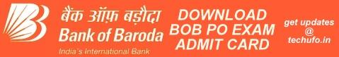 BOB PO Admit Card Download