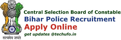 CSBC Bihar Police Driver Constable Recruitment Notification Apply Online Application Form