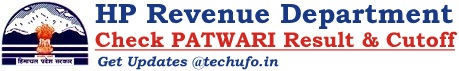 HP Patwari Result Himachal Pradesh Revenue Department Merit List Cutoff Marks
