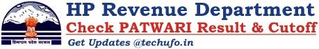 HP Patwari Result Himachal Pradesh Revenue Department Merit List Cutoff Marks