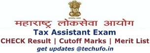 Maharashtra MPSC Tax Assistant Result Cutoff Marks