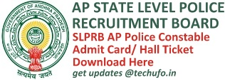 APSLPRB Police Constable Admit Card Hall Ticket Download