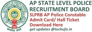 APSLPRB Police Constable Admit Card Hall Ticket Download