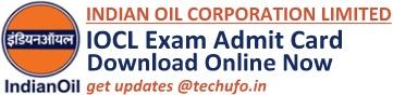 IOCL Admit Card