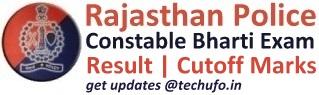 Rajasthan Police Constable Result Cutoff Marks Merit List