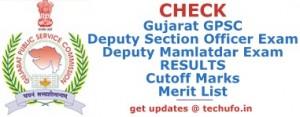 Gujarat Deputy Section Officer Result 2016 2017