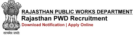 PWD Rajasthan Recruitment Notification & Application