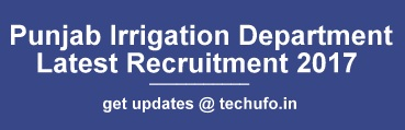 Punjab Irrigation Department Recruitment 2017 2018