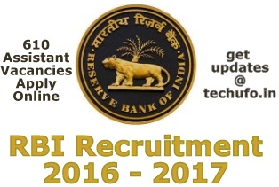 RBI Latest Recruitment 2016 2017