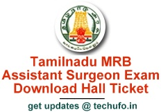 TN MRB Assistant Surgeon Admit Card Download Hall Ticket Call Letter