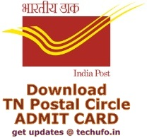 TN Postal Circle Admit Card 2016 2017