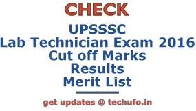 UPSSSC Lab Technician Results