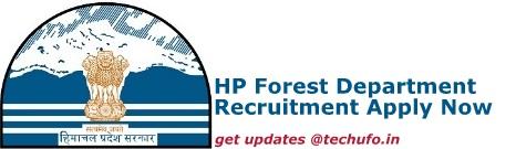 HP Forest Department Recruitment Details
