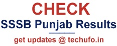 Punjab SSSB Exam Results